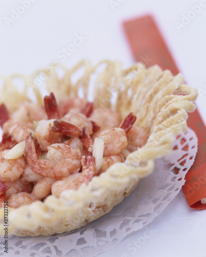 Dish of shrimps
