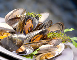 Mussels and carpet-shell clams