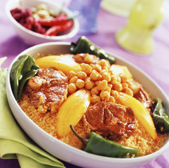 Spicy lamb couscous
