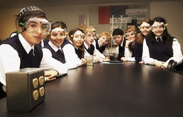 Students In A Science Lab