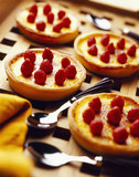 fondant maras strawberry tartlets flavored with honey