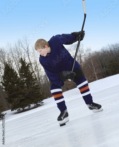 Boy Ready For Slap Shot