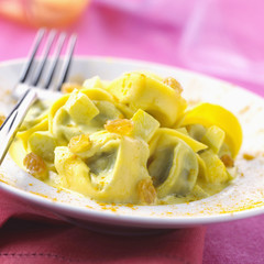 curried ravioli