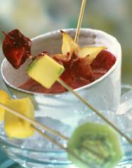 summer fruit fondue