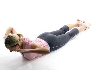 Young Woman Stretching Back. Model Released