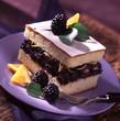 five o'clock tea and blackberry cake