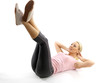 Young Woman Doing Stomach Crunches. Model Released