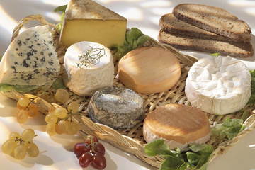 platter of French cheeses
