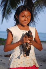 Portrait de petite fille d'Amérique Centrale