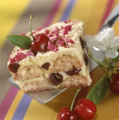 Sour griotte cherry tiramisu