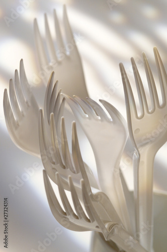 bunch of disposable forks