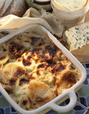 Potato and roquefort gratin