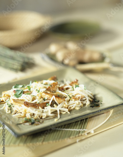 Chicken with beansprouts
