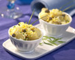 potato salad with egg mayonnaise and capers