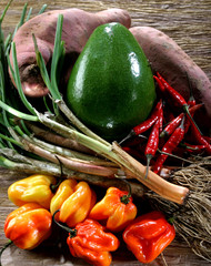 Vegetables from the West Indies
