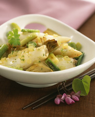 Pan-fried squid and artichokes