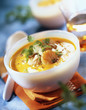 creamed pumpkin soup with scallops