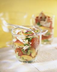 Chicken and nectarine salad