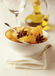 Orange fruit salad with olive oil