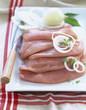 Raw turkey escalopes