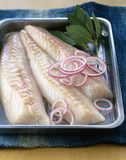 Raw cod fillets