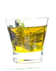 glass of olive oil