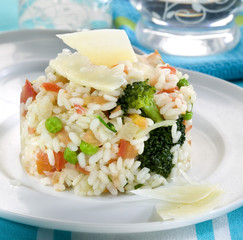 Broccoli,tomato and parmesan risotto