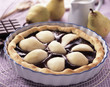 Duo pear chocolate tart