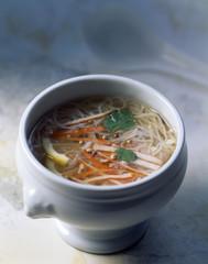 vermicelli and surimi crab soup