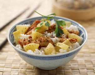 Asian-style chicken and pineapple