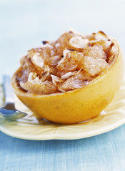 grapefruit with cinnamon and almonds