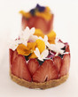 Fromage blanc,strawberry,jasmine and pansy tart