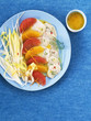 Scallop salad with citrus fruit