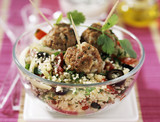 Taboulé and lamb meatballs with coriander