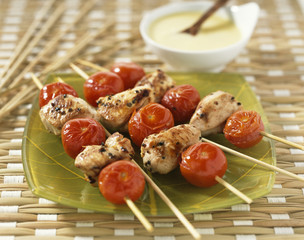 marinated and grilled chicken,ginger sauce