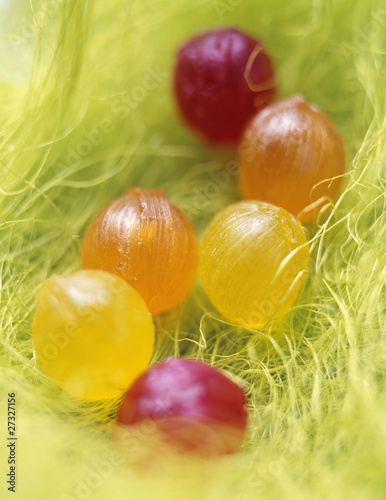 boiled candy in grass