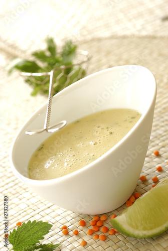 Orange lentil soup