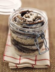 jar of anchovies in salt