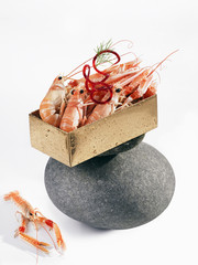 Small carton of langoustines