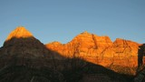 Time lapse sunset over Zion NP