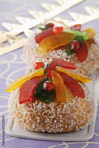 Royaume with confit fruit