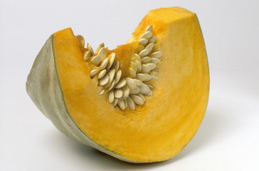 piece of Hokkaido sweet pumpkin