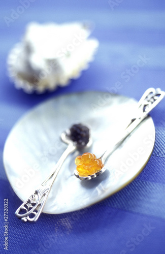 caviar and trout roe