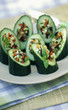 Cucumber stuffed with vegetables