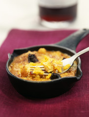 Rice and blood sausage gratin