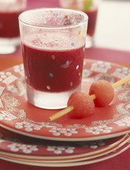 Watermelon and beetroot juice