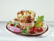 Italian-style peach crumble
