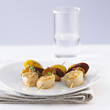 Scallop and Chorizo brochettes