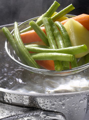Cooking vegetables in boiling water