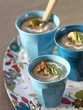 Mushroom,thyme and basil soup
